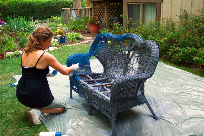 Can You Spray Paint Plastic Wicker Furniture Home Painting