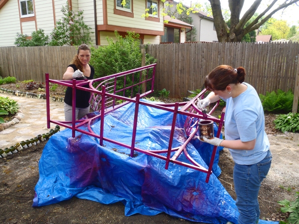 Recycling a Metal Arbor