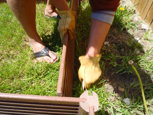 Installing raised garden beds