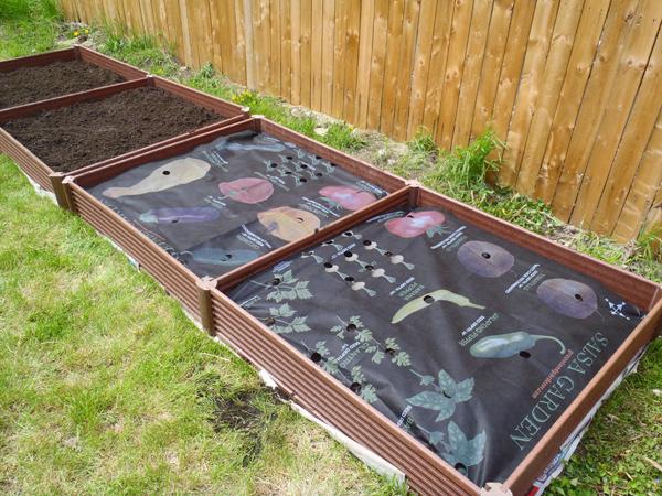 Assembled raised garden beds