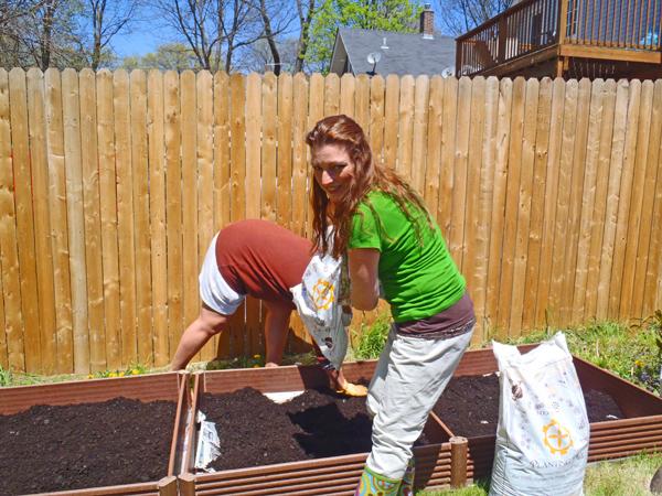 Assembling raised garden beds
