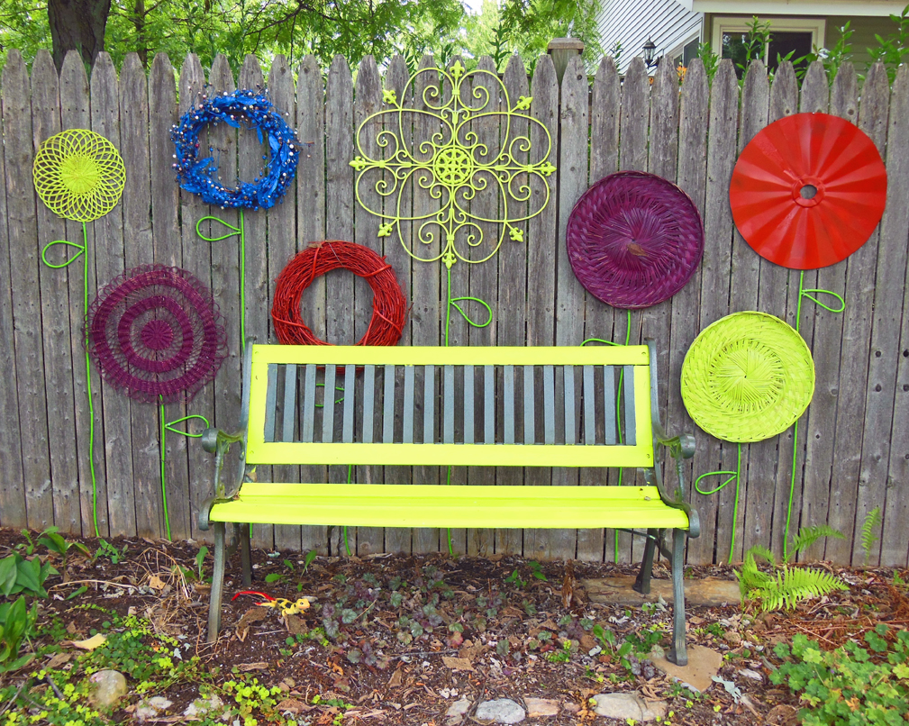 How To Make A Recycled Garden Fence Flower Folk Art ...