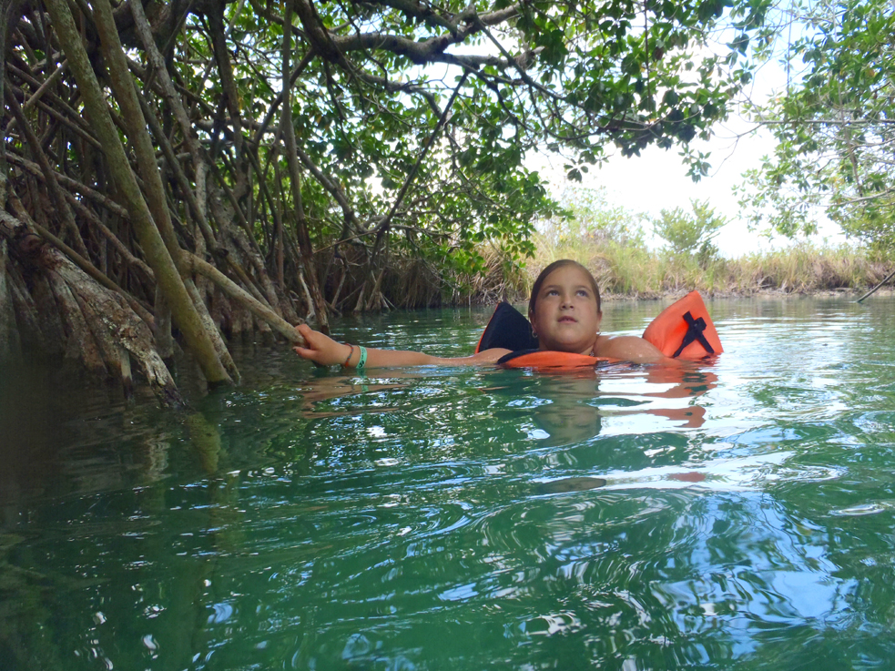 Swimming In A Mayan Canal Deep In Mexico