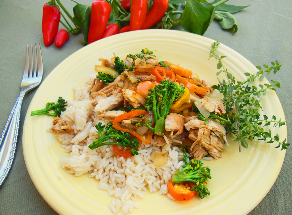 Cooking Up A Broccoli Garlic Rotisserie Chicken Stir Fry Recipe With Culinary Video