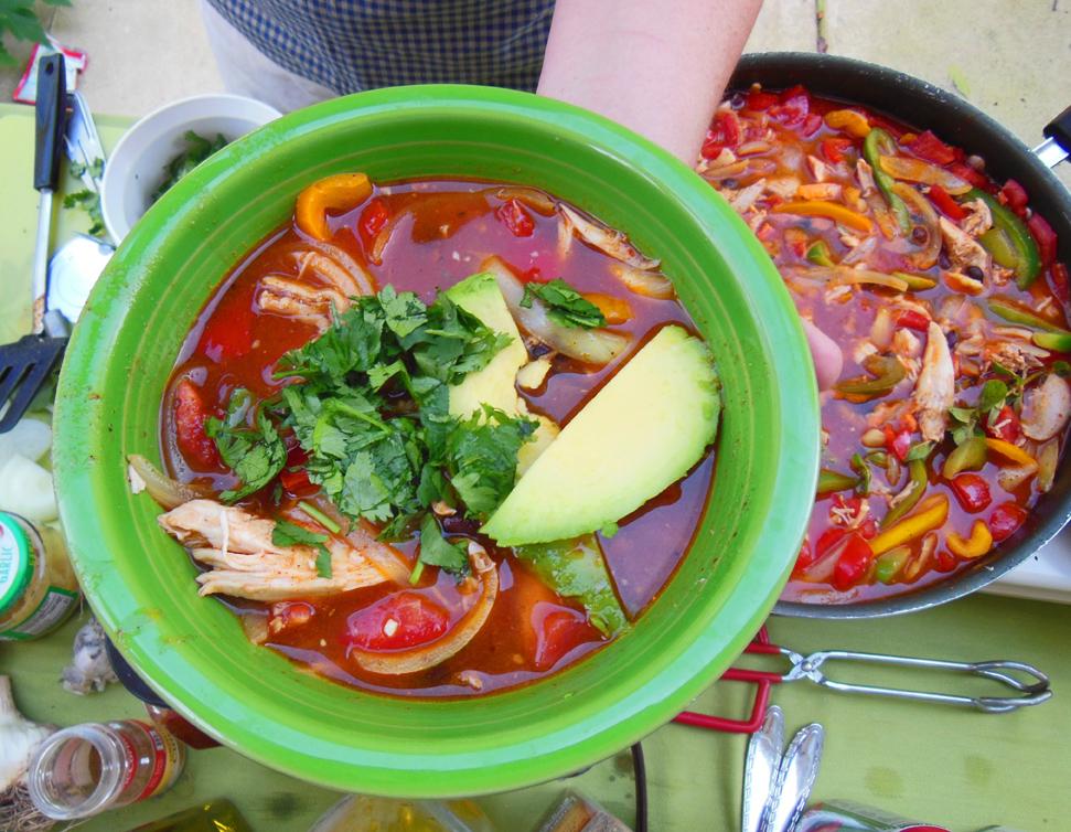 Shawna Coronado's delicious fajita soup