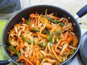 Fajitas Cooking