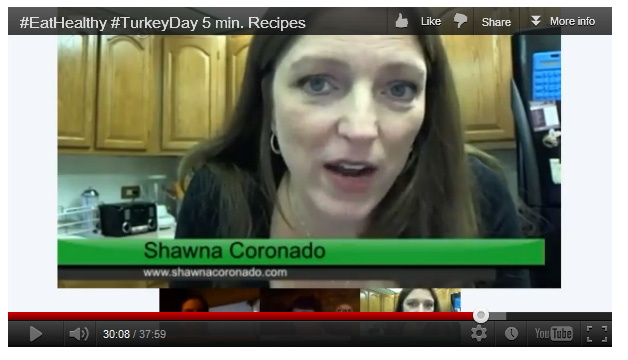 RAW Thanksgiving Side Dish Recipe Culinary Google+ Hangout