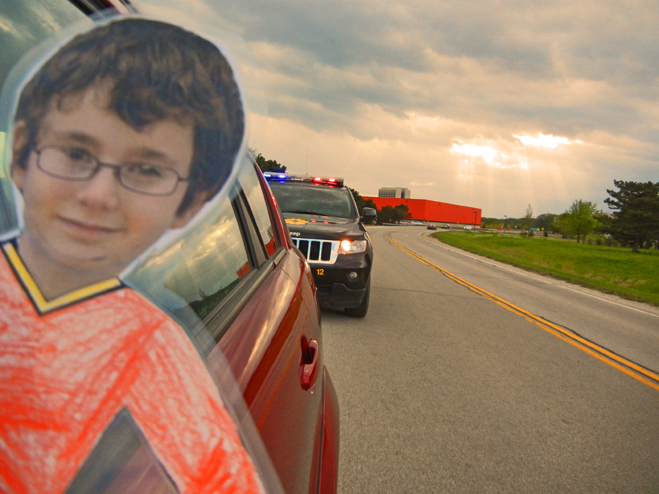 Flat Jacob gets a ticket