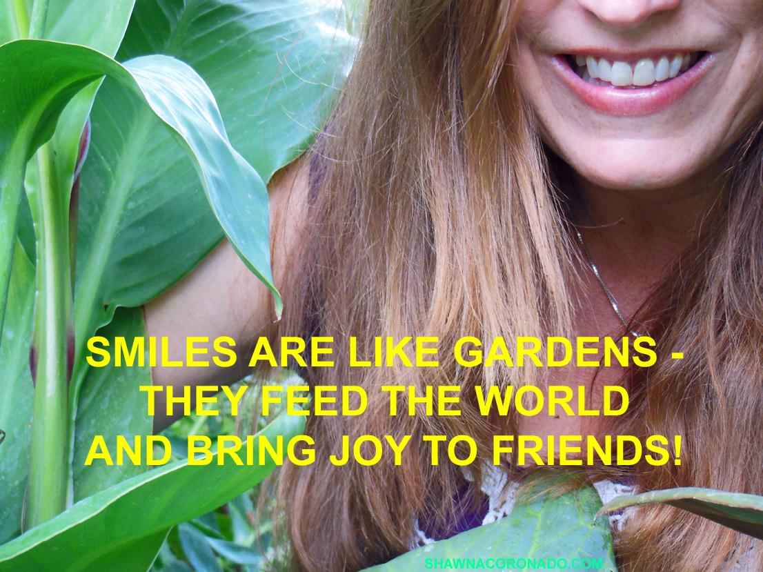 SMILES IN THE GARDEN