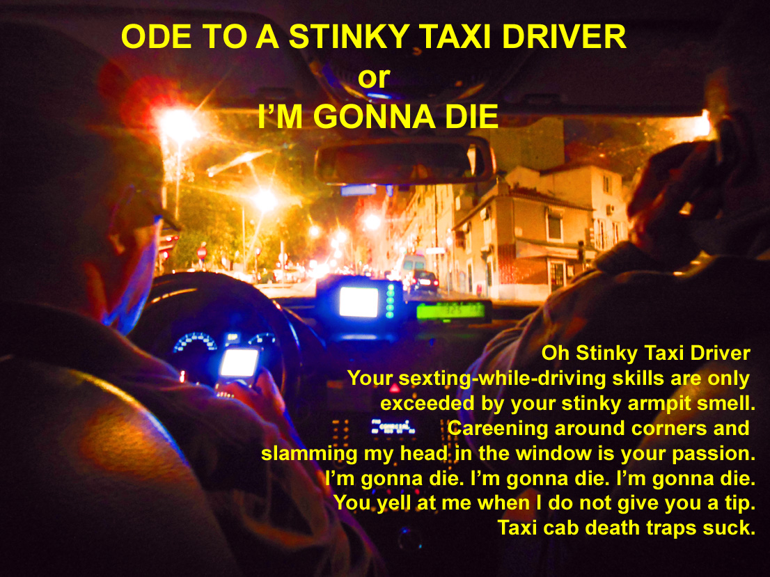 Ode To A Stinky Driver or Im Gonna Die