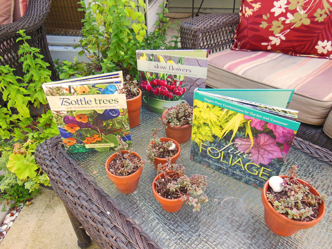 Bottle trees, slow flowers, and fine foliage garden books