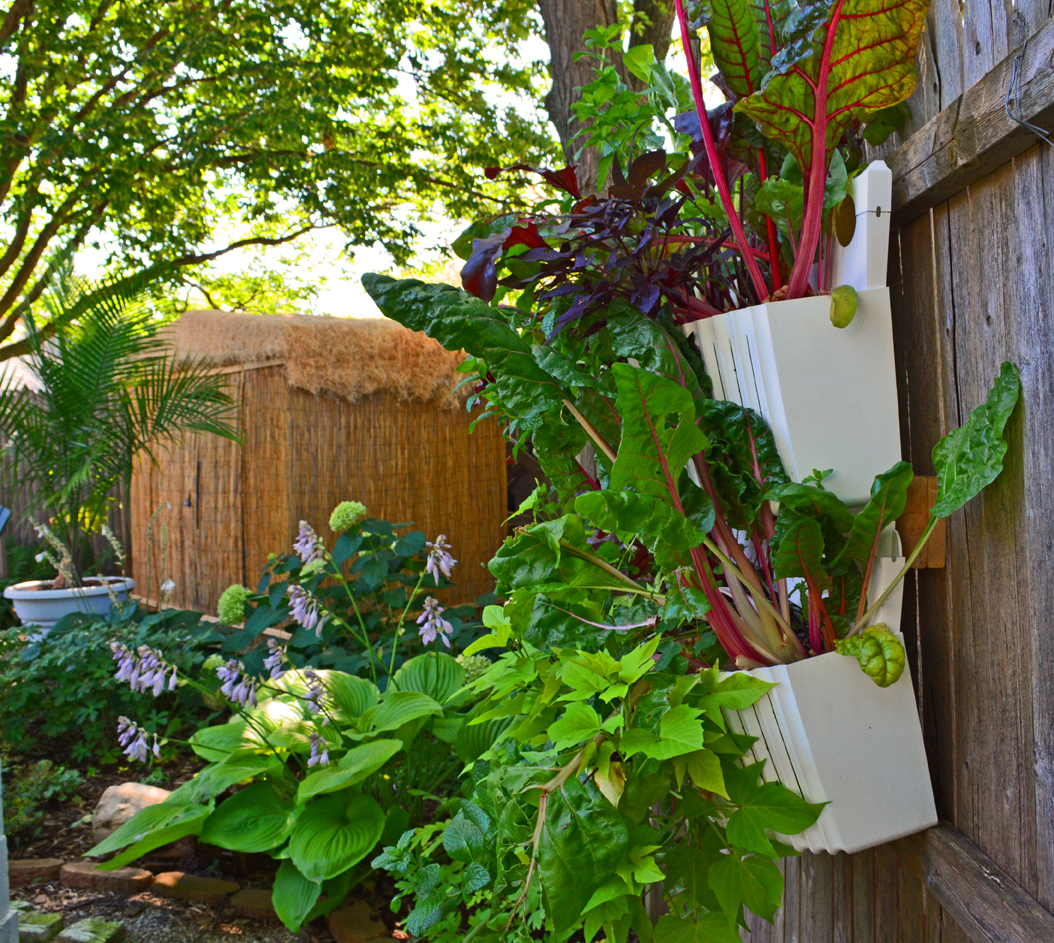 Vertical garden planters are easy to install in full shade for Garden planter designs
