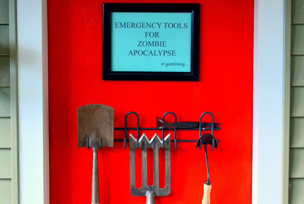 Zombie Apocalypse Door Close up View