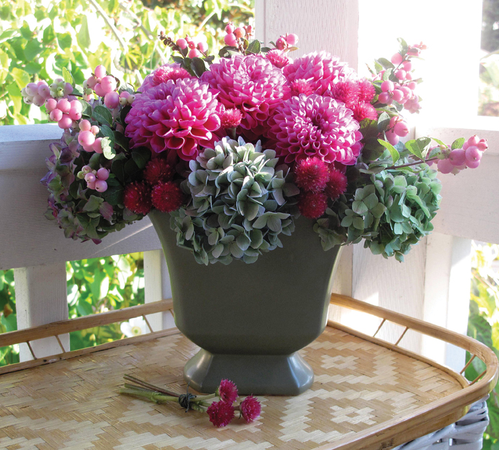Flower Arranging Using Your Fall Organic Garden Flowers and Vegetables