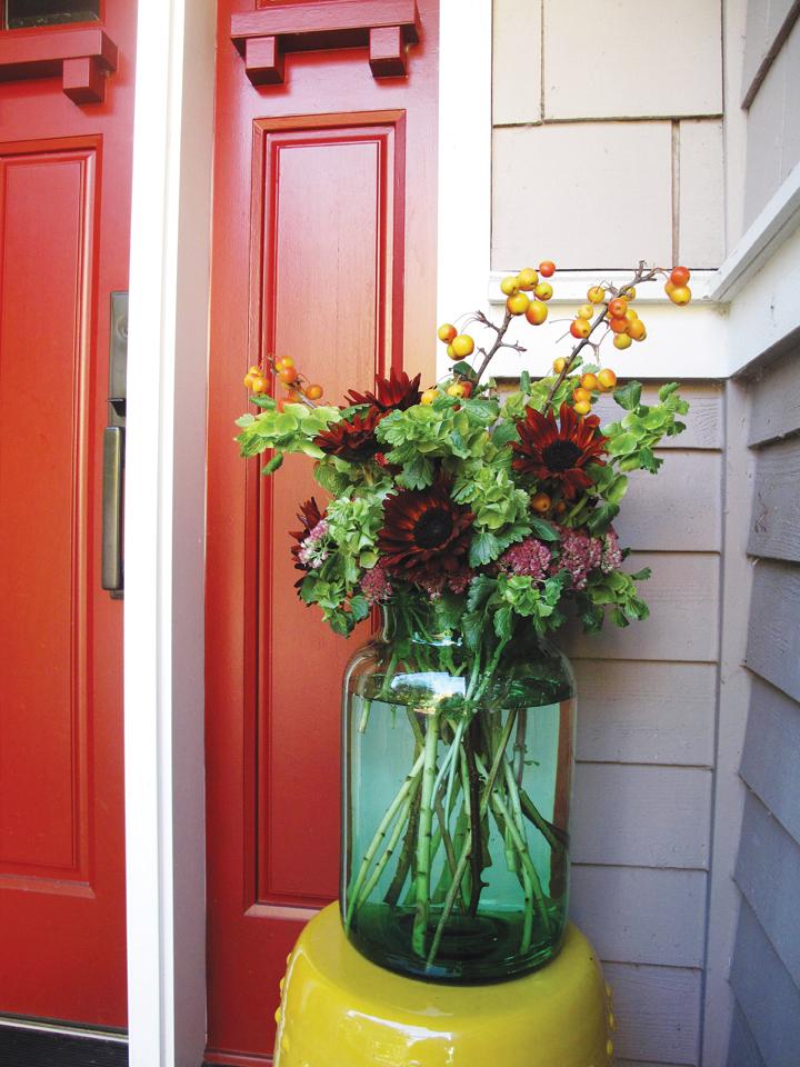 Debra Prinzing Fall Front Door Design
