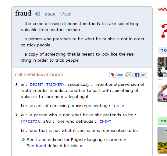 Dex Yellow Pages Fraud Definition