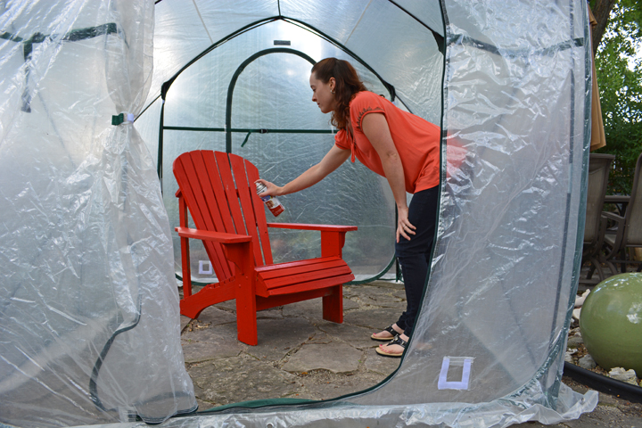Greenhouse Spray Painting & 5 Ways To Reuse a Portable Pop-Up Greenhouse - Shawna Coronado