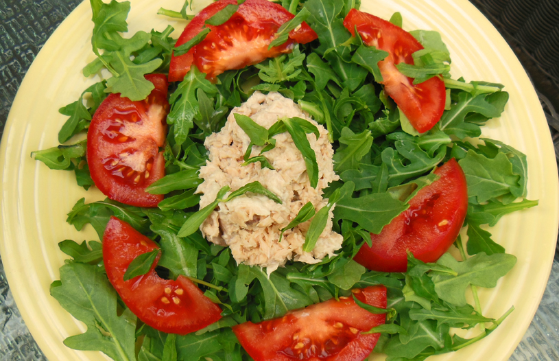 How I Lost 18 Pounds plus a Salmon and Arugula With Tomato Salad Recipe