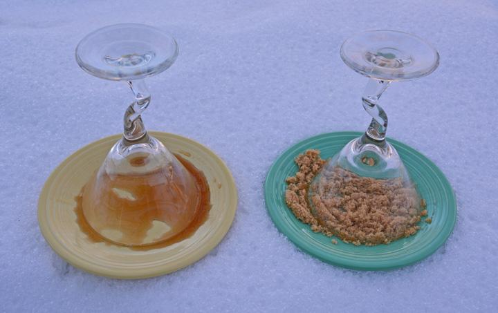 Pecan pie martini cocktail sugar rim