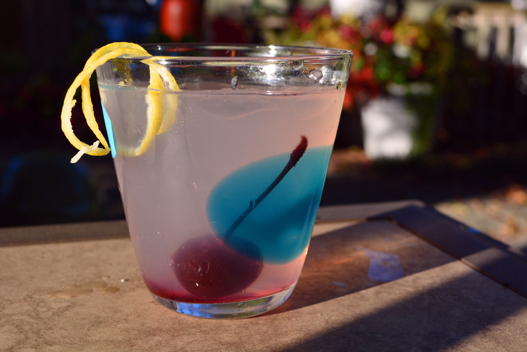 Basil Lemon Gin Swizzle Cocktail Recipe