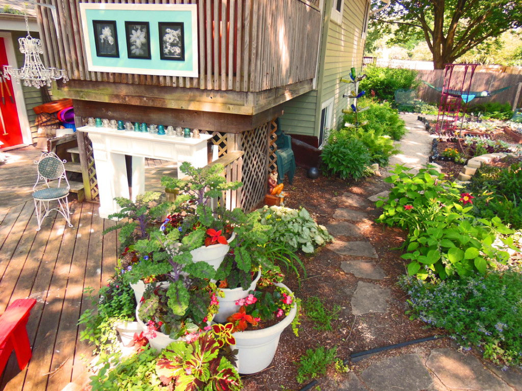Garden Path With Container Towers