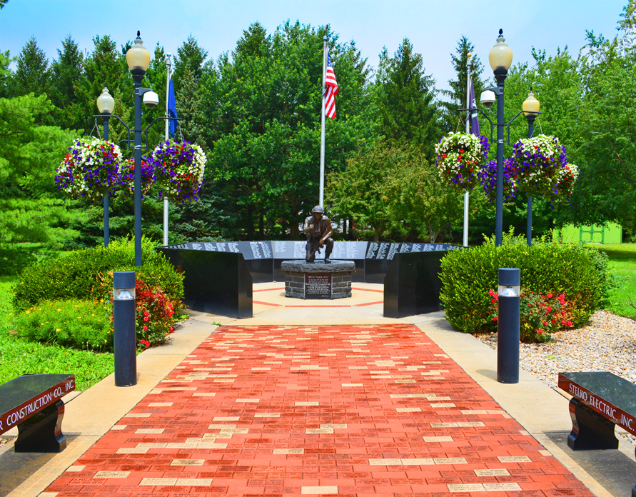 Kokomo Indiana HGTV Flower Display Veterans Memorial