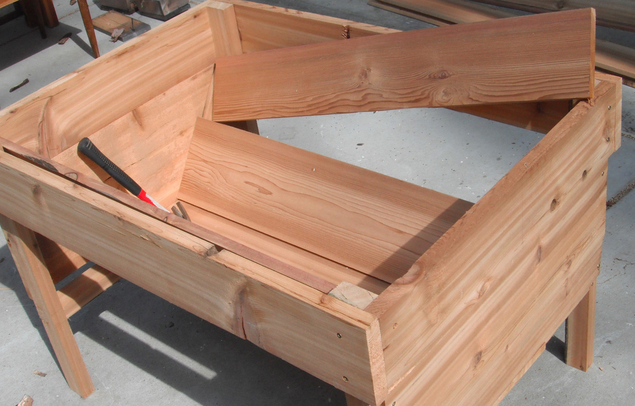 Building sustainable raised garden beds shawna coronado for Raw wood bed frame