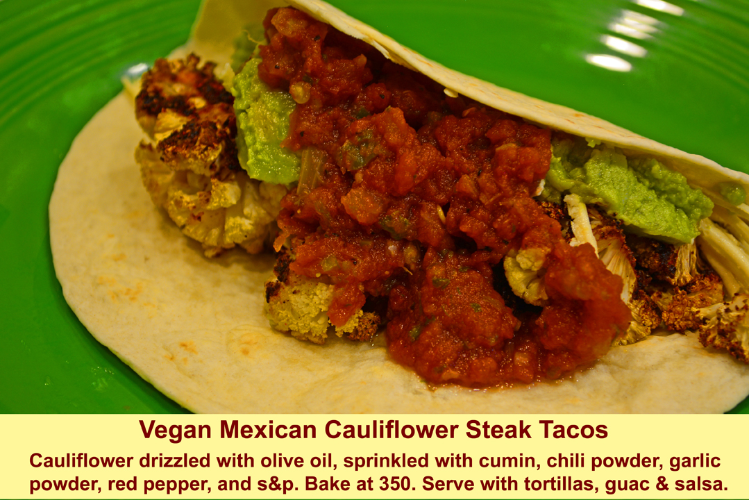 Vegan Mexican Cauliflower Steak Tacos