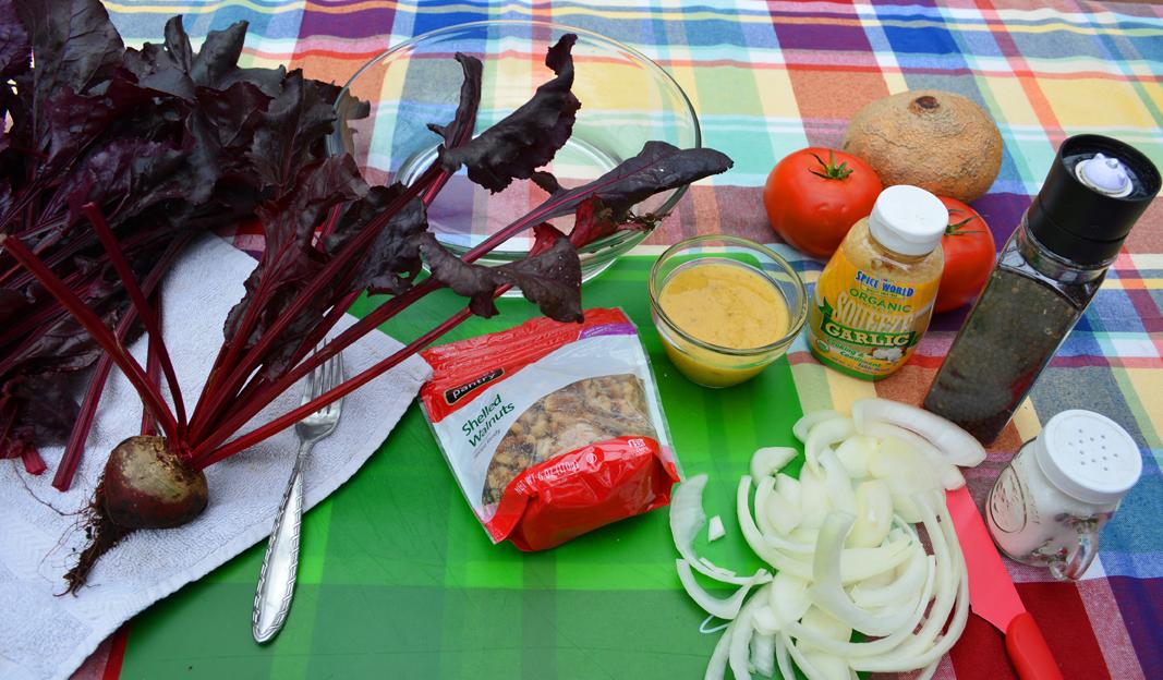 Beet Green Salad Ingredients