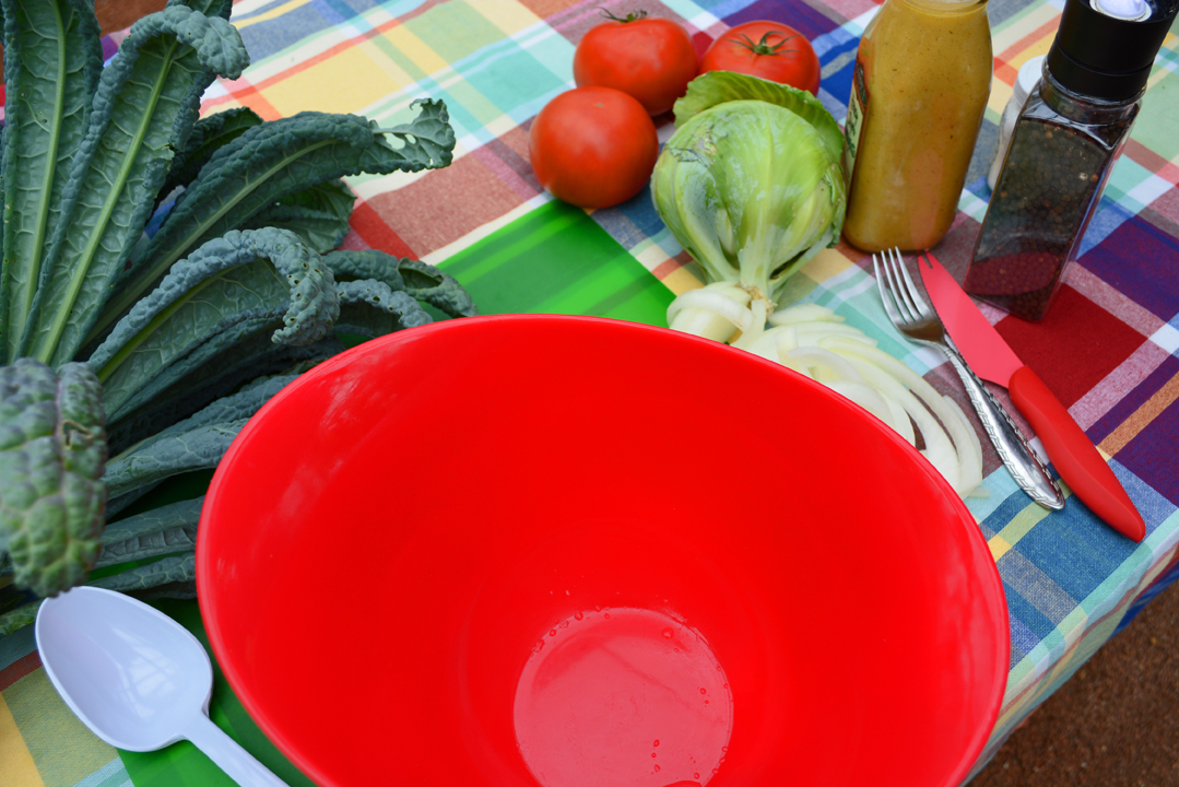 Cabbage Kale and Tomato Salad Recipe Ingredients