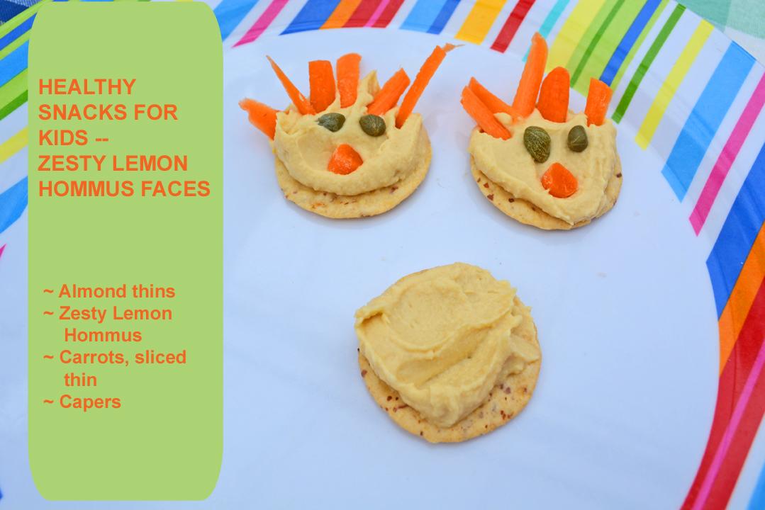 Healthy Snacks Lemon Hommus Face Recipe