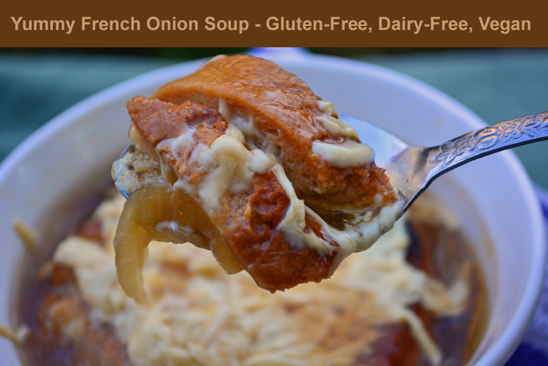 French Onion Soup with Cheese Daiya Recipe
