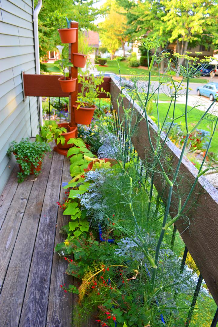 Garden Post Vertical Garden on Patio