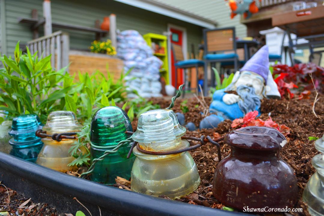 Backyard Makeover Garden Potting Room Antique Insulator