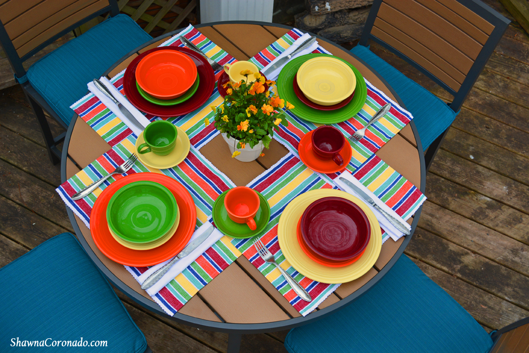 Backyard Makeover Garden Potting Room Fiestaware Table & My Fiestaware Dinnerware Family Story - Shawna Coronado