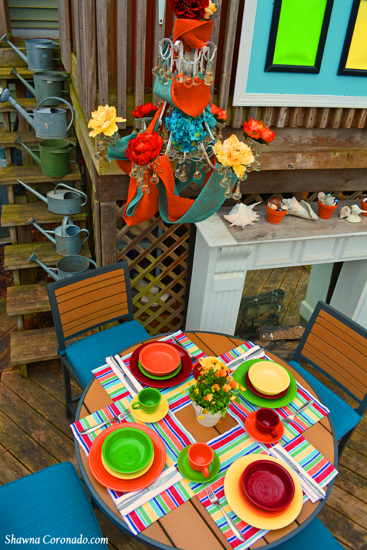 Backyard Makeover Garden Potting Room with Chandelier