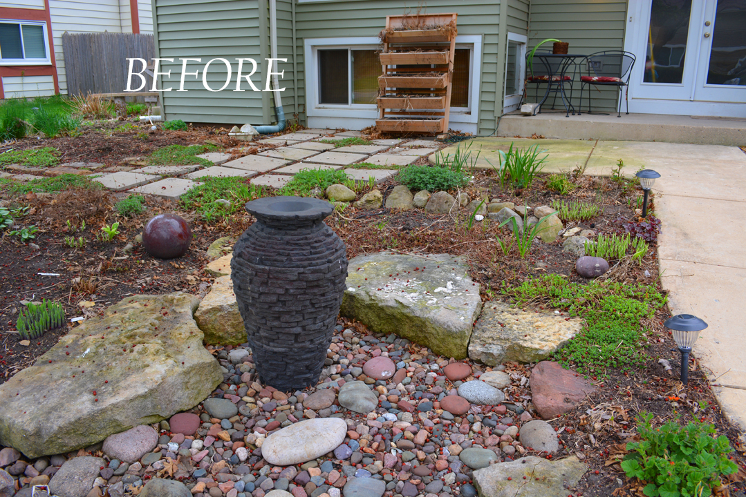Garden patio makeover and a succulent wok shawna coronado for Front porch patio furniture