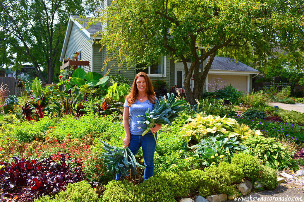 Shawna Coronado in late September garden