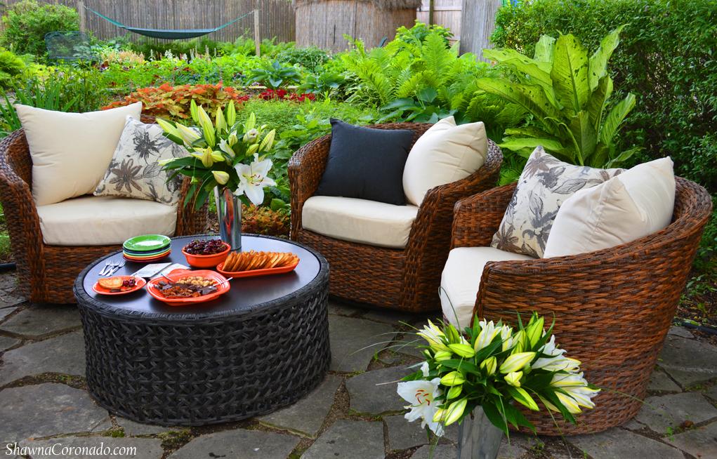 Backyard Garden Room Patio Makeover Fiestaware Dinnerware with H