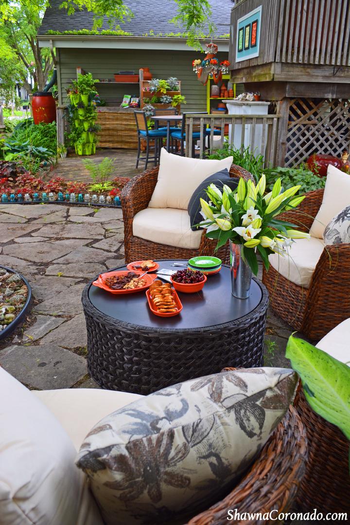 Backyard Garden Room Patio Makeover Fiestaware Dinnerware With P