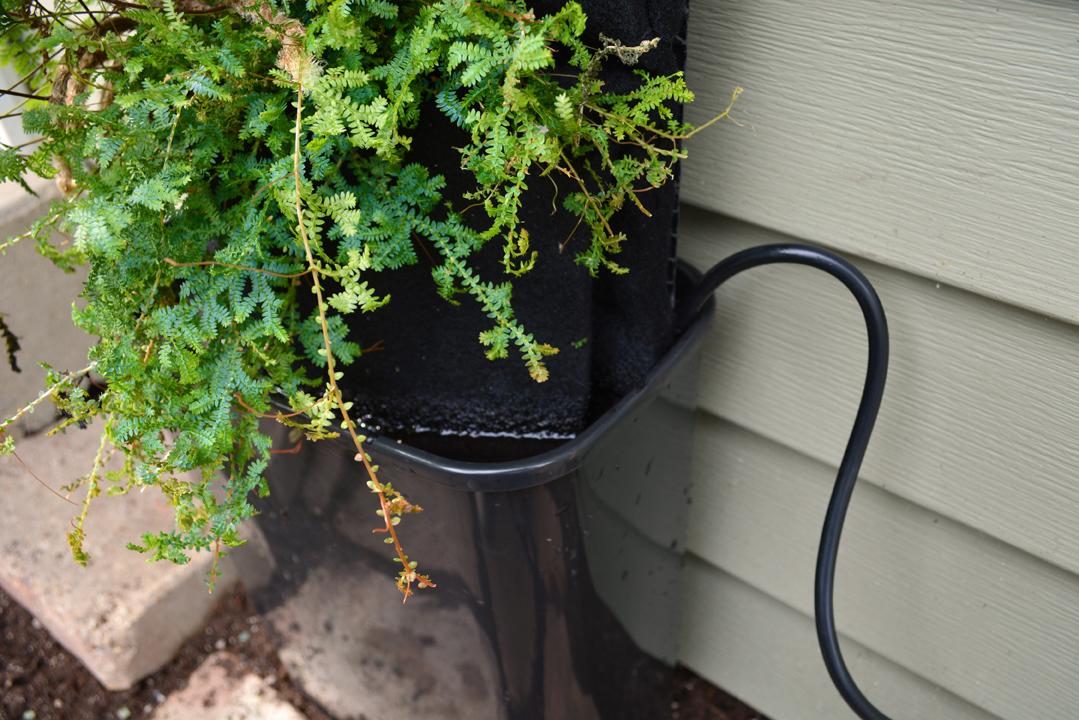 Freestanding Entrance Garden Pump in Water