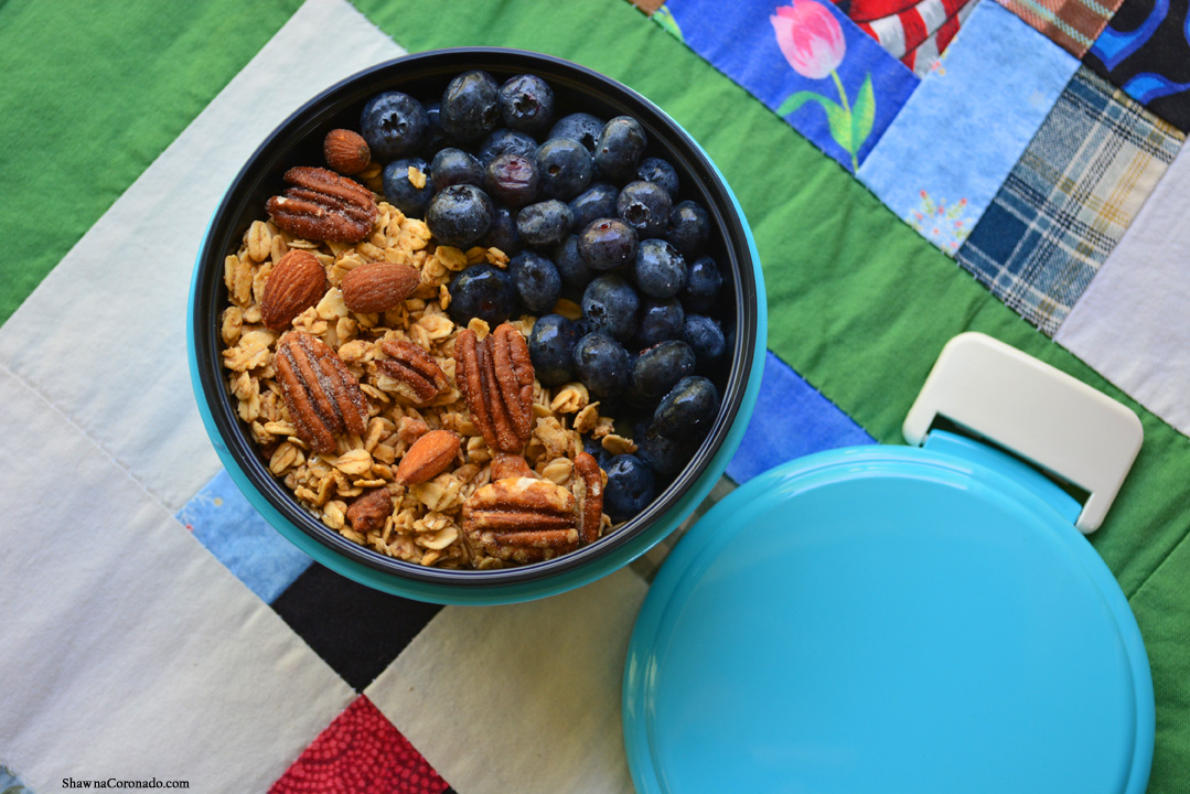 Blueberry Yogurt Nut and Granola Bento Box by Shawna Coronado