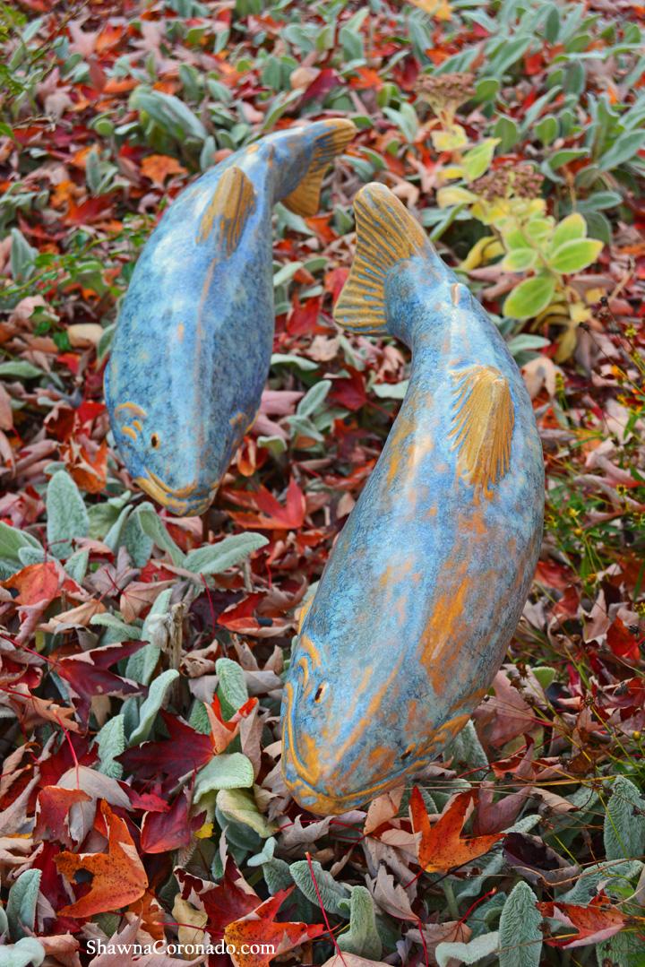 Fall Tall Trout Fish In The Garden © copyright Shawna Coronado.j