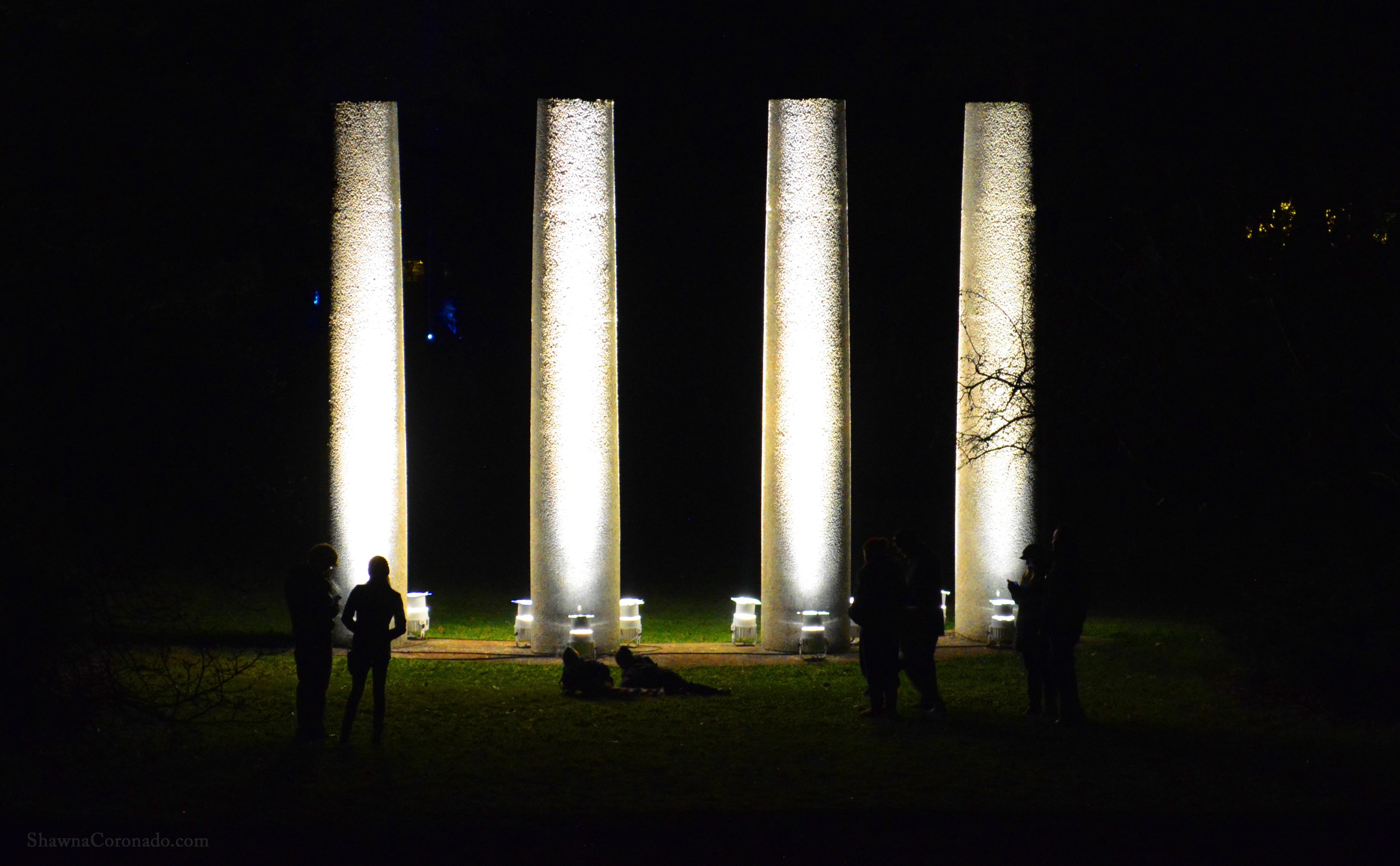 Morton Arboretum Illuminations Pillars of Light