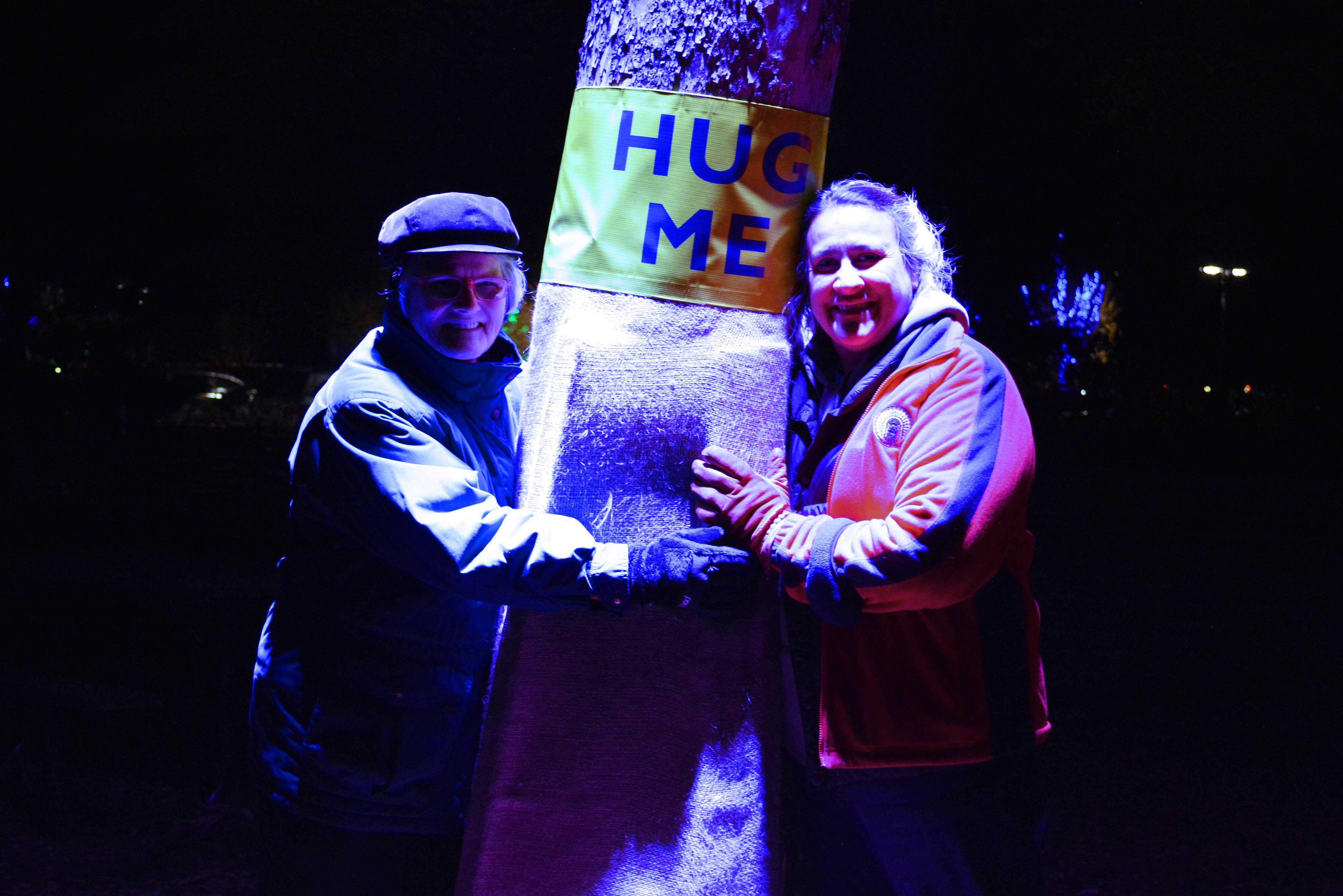 Morton Arboretum Illuminations Tree Hugging