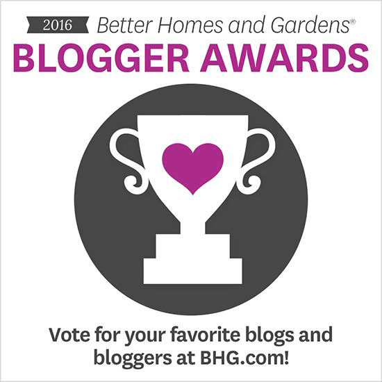 Blogger Awards 2016 Better Homes and Gardens