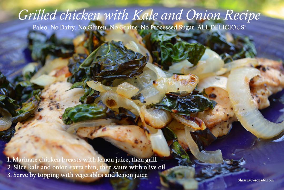 Chicken Kale Onion Grill Recipe 2