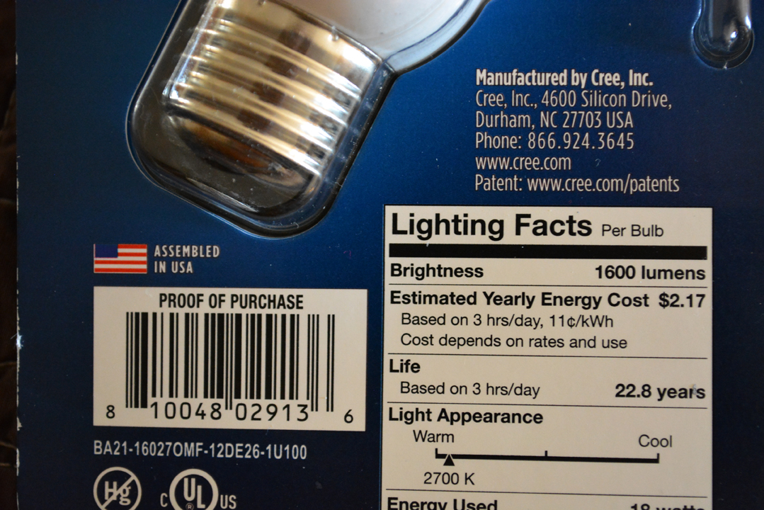 LED Lightbulb Package