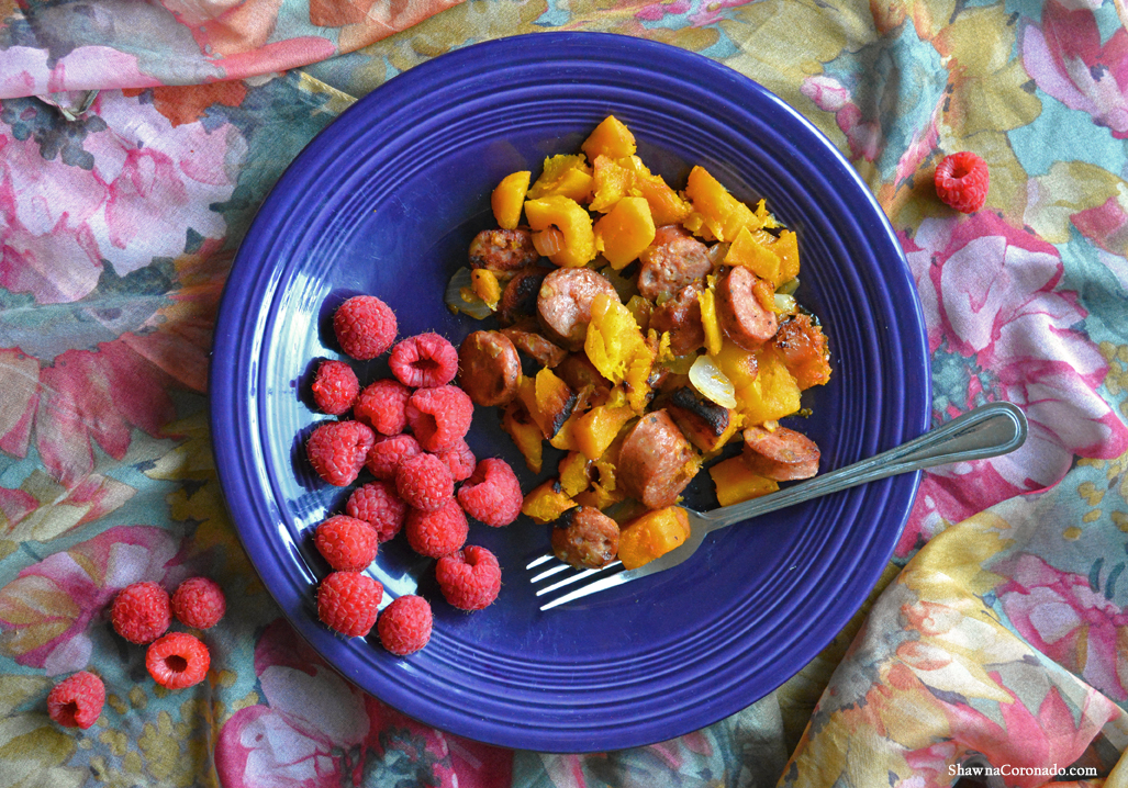 Paleo anti inflammatory chicken and apple sausage recipe shawna aidells chicken apple sausage butternut squash copyright shawna coronado forumfinder Image collections
