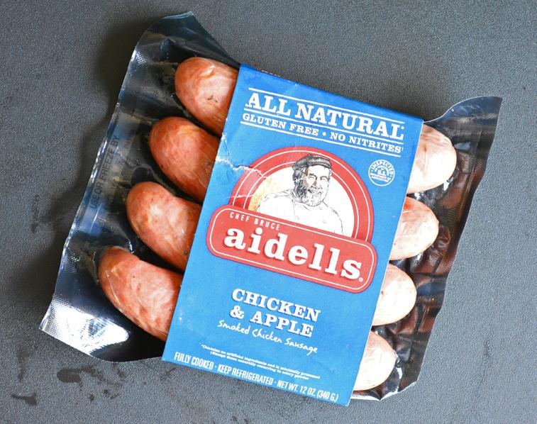Aidells Chicken Apple Sausage Package copyright Shawna Coronado